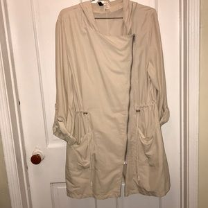 H&M Light weight Trench Coat with Hood